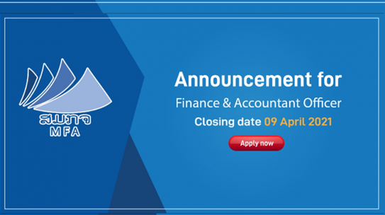 Job announcement for Finance & Accountant Officer (Lao National)