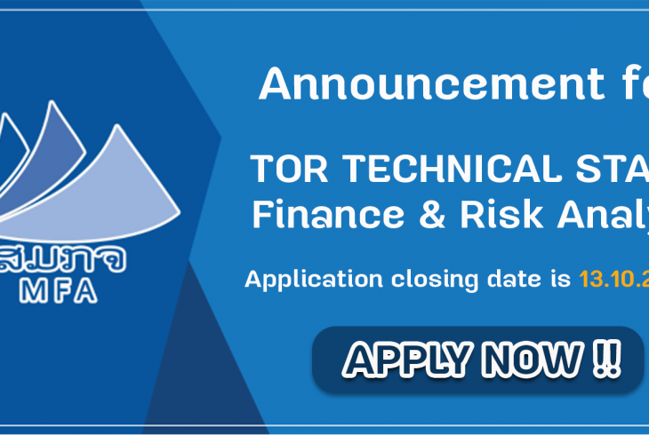 Announcement for Finance & Risk Analyst Staff